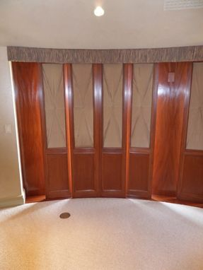 Custom Made Mahogany Sliding Panels