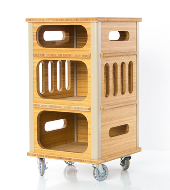 Custom Made Modern File Cabinet On Casters