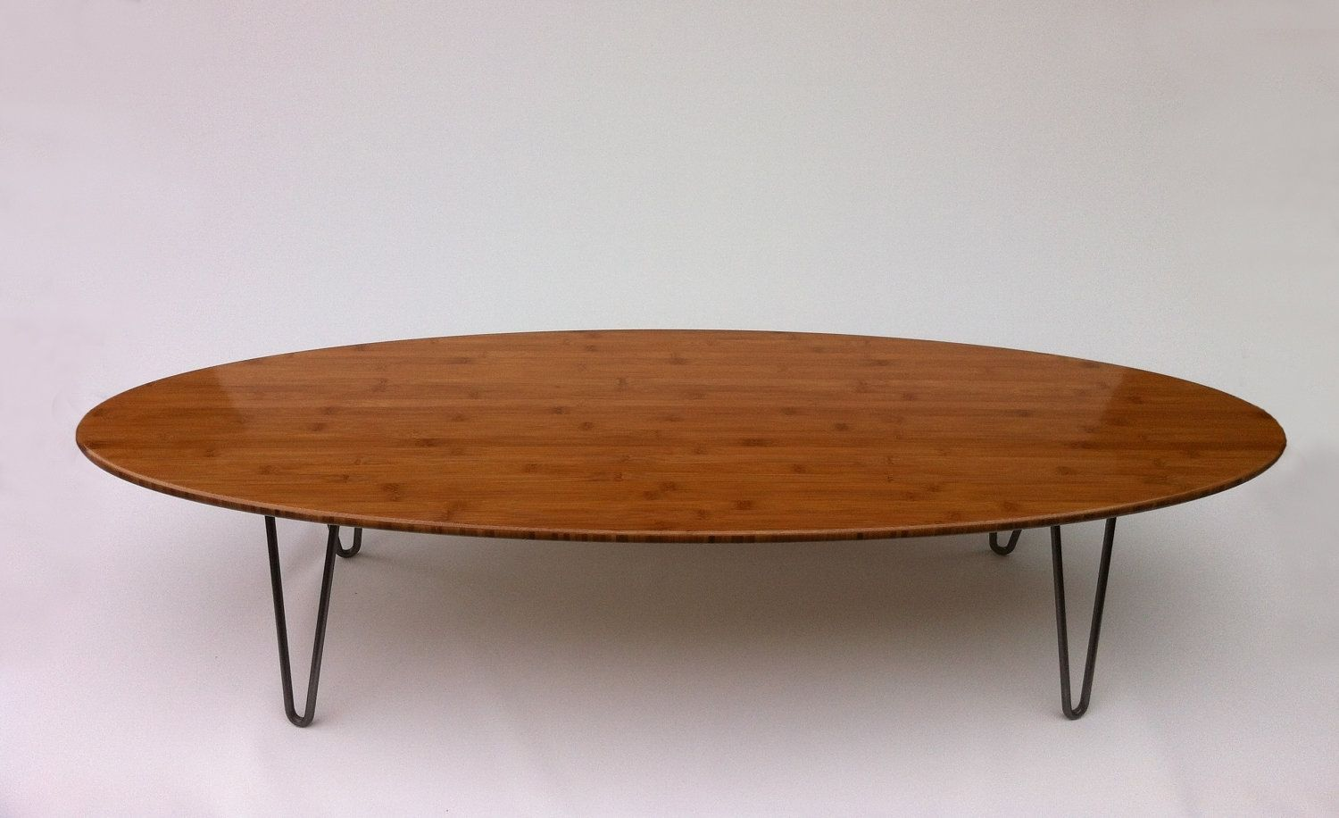 Buy a custom 66 surf board elliptical mid century modern coffee table hairpin legs in Legs for a coffee table
