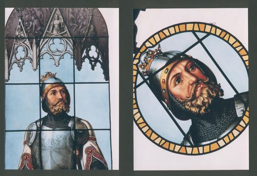 Custom Made Detailed Pictorial Painted Stained Glass, Custom Work Available!