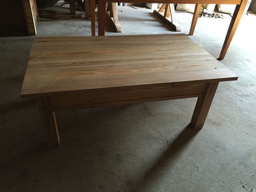 Custom Made Reclaimed Heart Pine Coffee Table