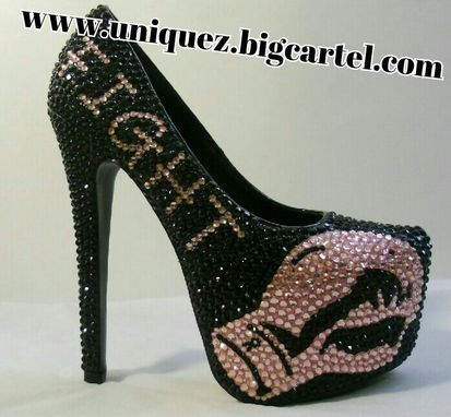 Custom Made Breast Cancer Awareness Heels