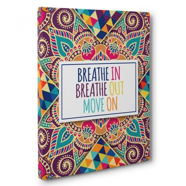 Custom Made Breathe In Breathe Out Canvas Wall Art