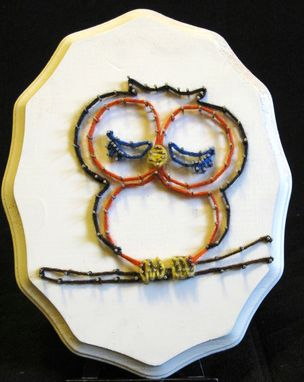 Custom Made String Art Owl