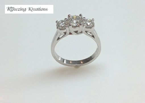 Custom Made Three Stone Lucida Diamond Engagment Ring