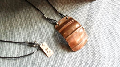 Custom Made Handcrafted Folded Copper Necklace