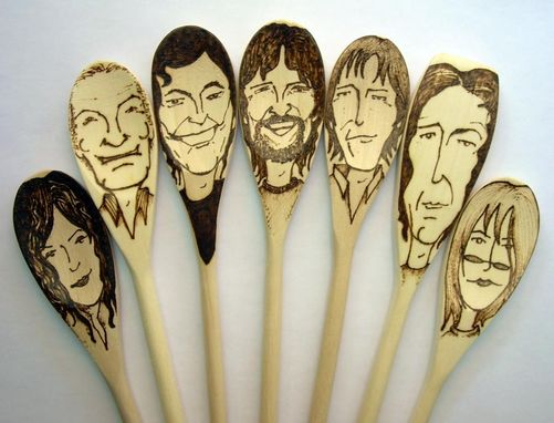 Custom Made Portraits On Spoons