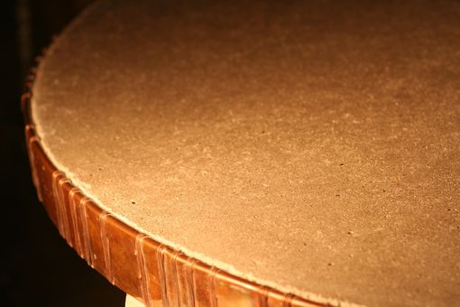 Custom Made Copper Rimmed Coffee Table Top