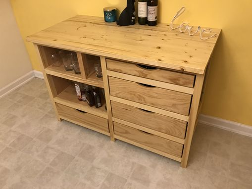 Custom Made Custom Built Cabinet With Wine Cooler Built In