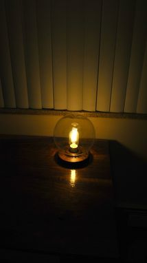 Custom Made Walnut Mood Lamp With Edison Bulb