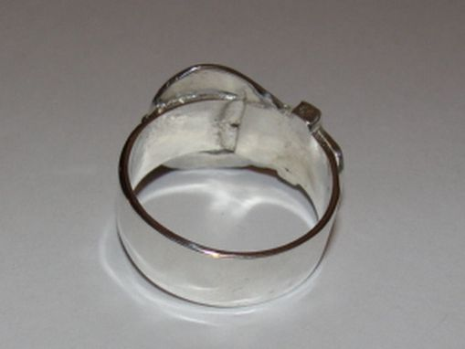 Custom Made Sterling Silver Buckle Ring Unisex