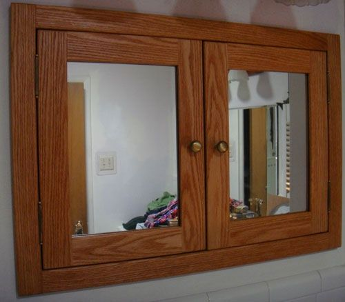 Custom Made Shaker Style Solid Wood Medicine Cabinets