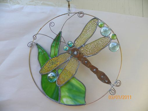 Custom Made Dragonfly Garden Piece