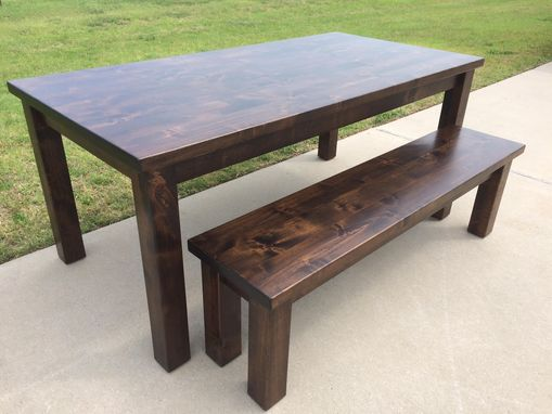 Custom Made Hardwood Classic Farmhouse Tables