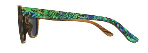 Custom Made Wood And Mother Of Pearl Eyeglasses