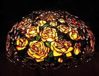 Custom Made Rose & Peony Lamp