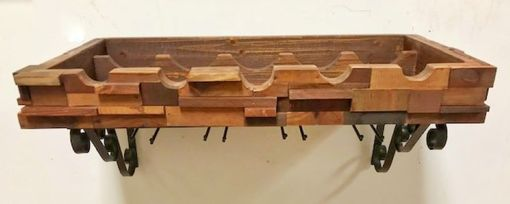 Custom Made 3-D Wood Wine Rack