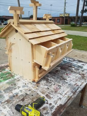 Custom Made Purple Martin House With 12 Rooms
