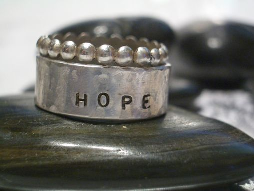 Custom Made Hope Stacking Ring In Hand Stamped Sterling