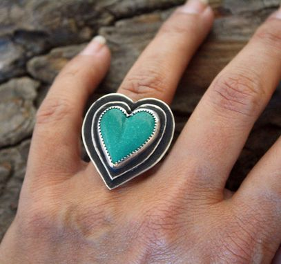 Custom Made Sterling Silver - Beating Heart Ring