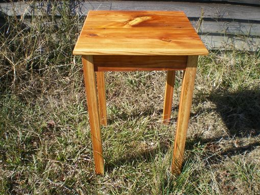 Custom Made Reclaimed Pine End Table