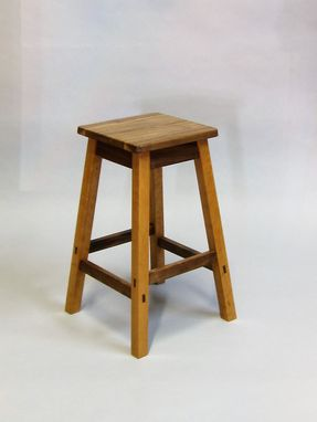 Custom Made Wooden Counter Stool