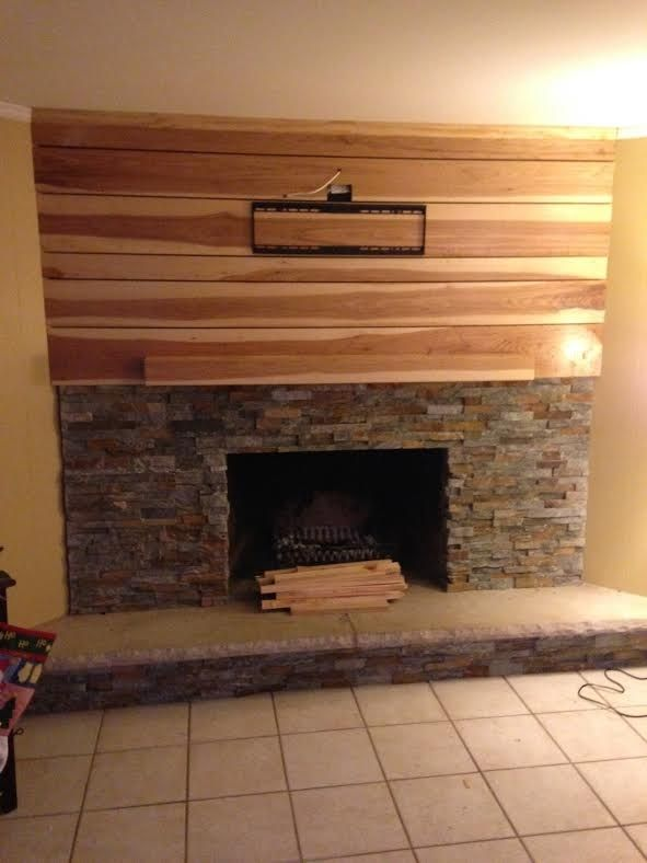 Custom Hickory Fireplace Mantle by Customcraft Homes ...