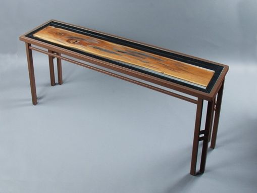 Custom Made Natural Wood Ranma Console Table