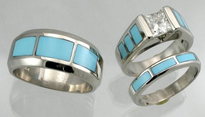 Native American Wedding Rings Jewelry James A Hardwick J Jewelers Salt Lake City Utan