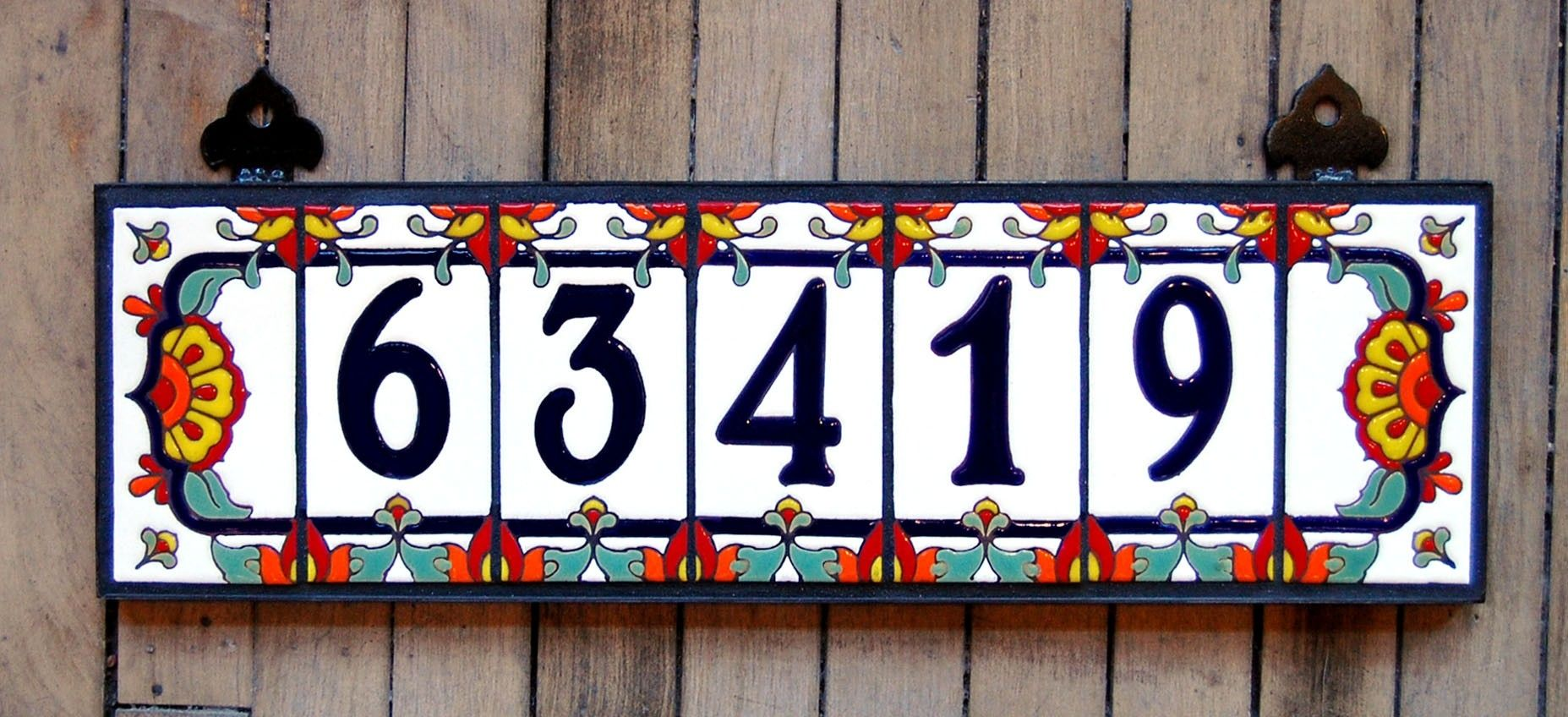 Hand made address numbers by carly quinn designs custommade custom made address numbers dailygadgetfo Images