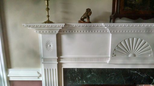 Custom Made Handcarved Federal Fireplace Mantle