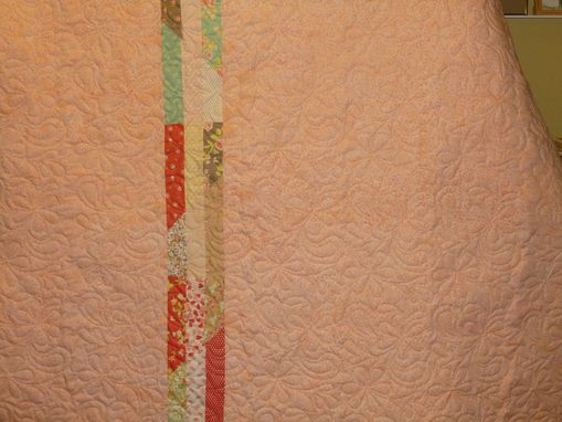 Custom Made Custom Madde Pastel Throw Quilt