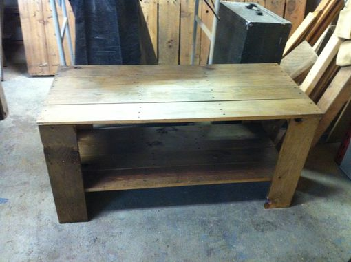 Custom Made Wooden Slat Coffee Table