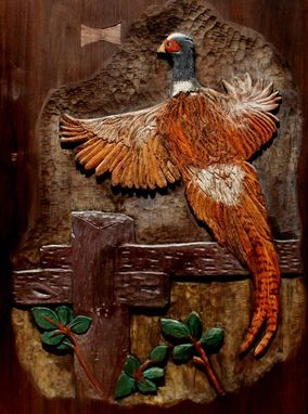 Custom Made Wildlife Relief Carving - Birds