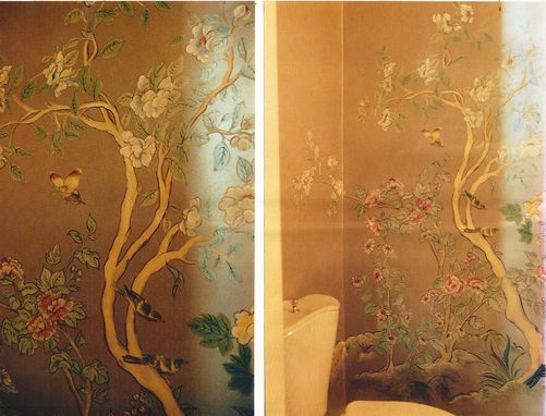 Custom Made Bathroom Mural With An Asian Design