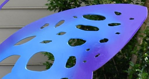 Custom Made Butterfly Steel-Metal Bench