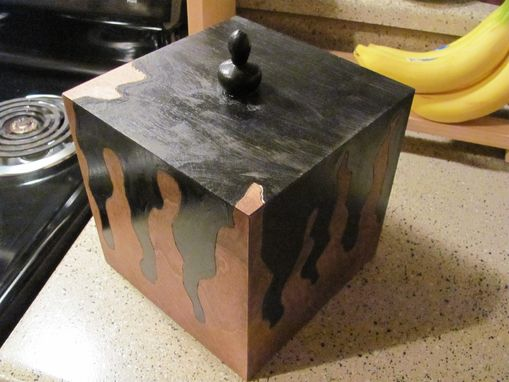Custom Made 8x8x8 Mitered Box Carved