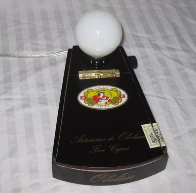 Custom Made Cigar Box Desk Lamp: Obelisco