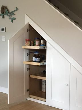 Custom Under Stairs Storage Cabinet by Reslan Woodworking and ...