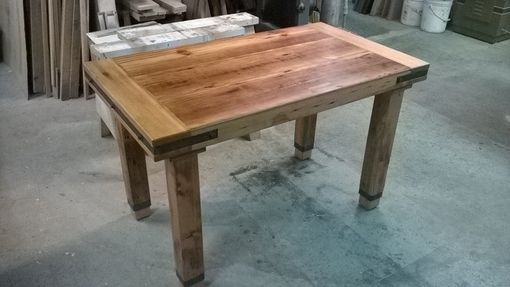 Custom Made Industrial Timber Table-Re-Claimed Wood
