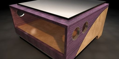 Custom Made Cobalt Coffee Table