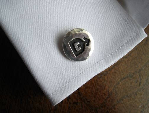 Custom Made Sterling Silver Cuff Links With Ranch Brand Or Logo