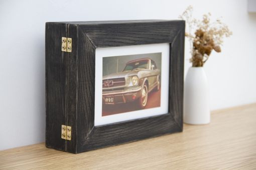 "Custom Made Key Storage Wall Hanging Organizer With Photo Frame 7,5"" X 9"""