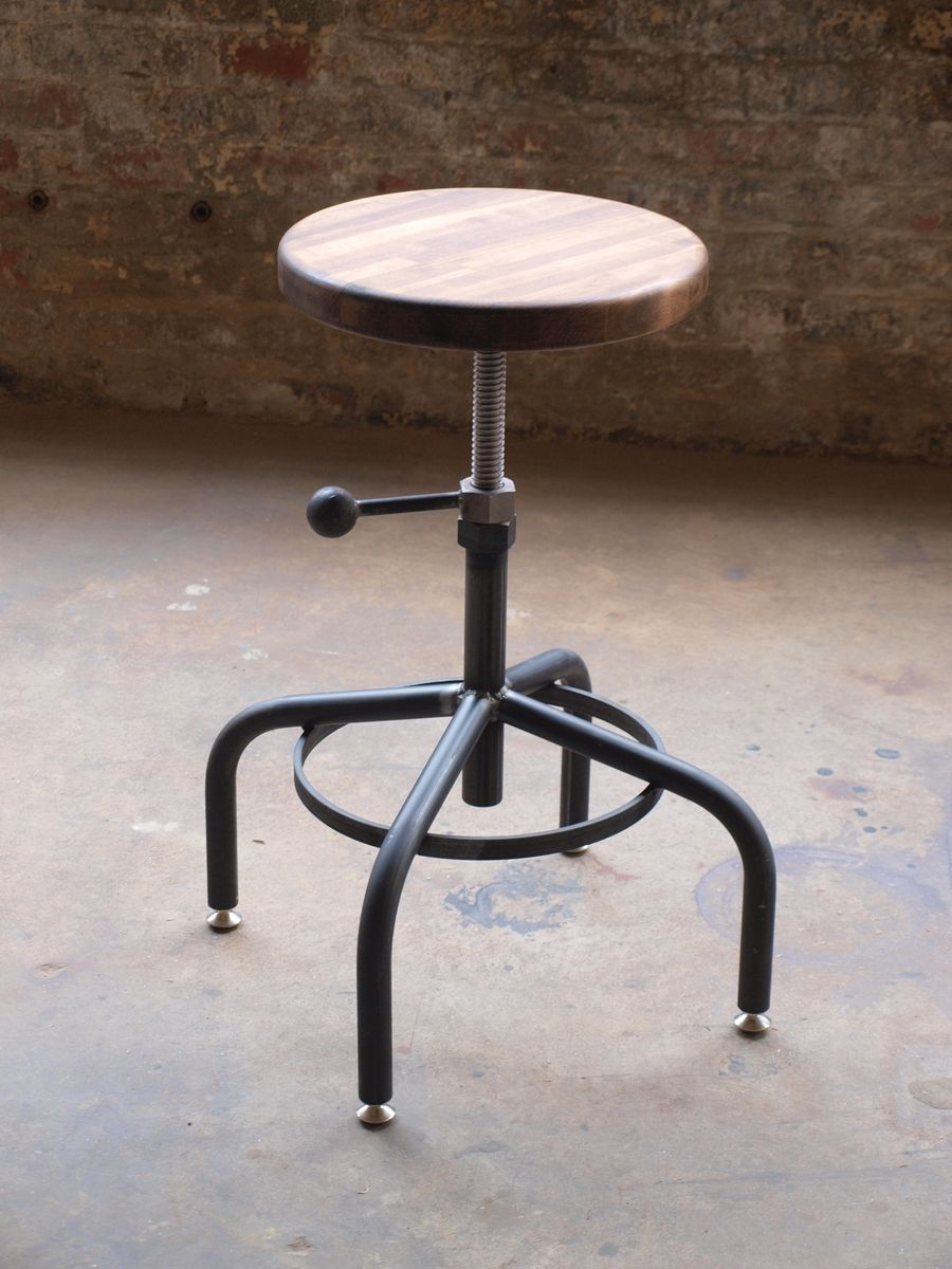32eeb4580bc5 Hand Crafted Industrial Adjustable Drill Press Stool by ...