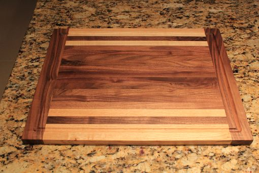 Custom Made Walnut And Ash Hardwood Cutting Board