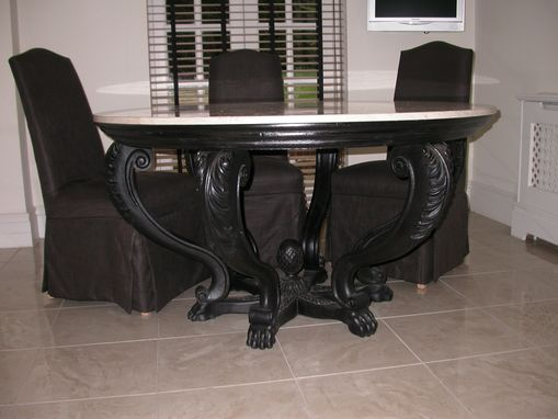 Custom Made Carved Period Contemporary Round Table
