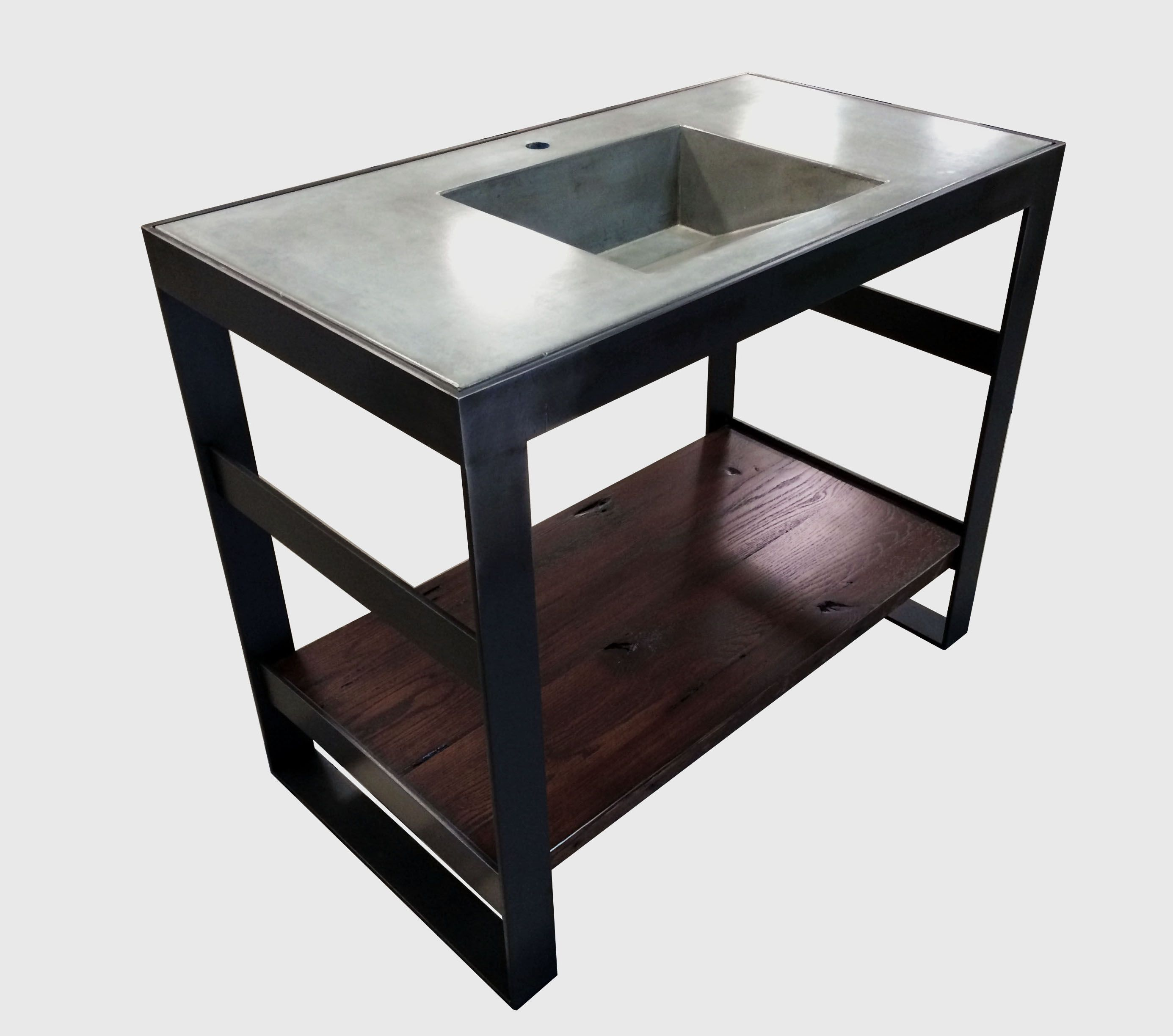Bathroom Vanity Under $500 buy a hand crafted open frame steel and reclaimed oak bath vanity