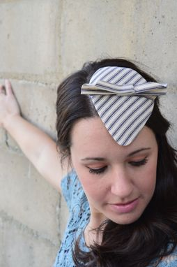 Custom Made Ticking Stripe Fascinator