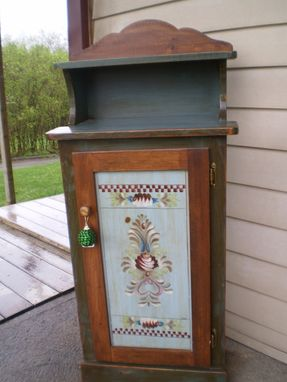 Custom Made Hand Painted Canning Cupboard