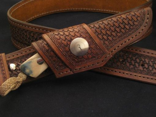 Custom Made Horizontal Leather Knife Sheath